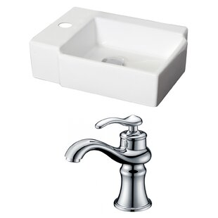 Affordable Ceramic 17 Wall Mount Bathroom Sink with Faucet By American Imaginations