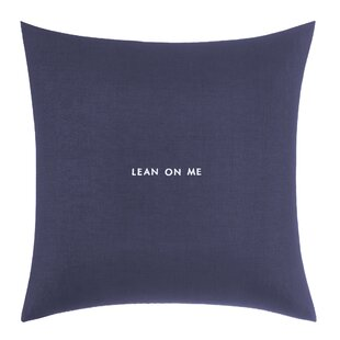 Words of Wisdom 'Lean on Me' Throw Pillow
