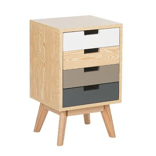 Crewellwalk 4 Drawer Bedside Table By Mikado Living