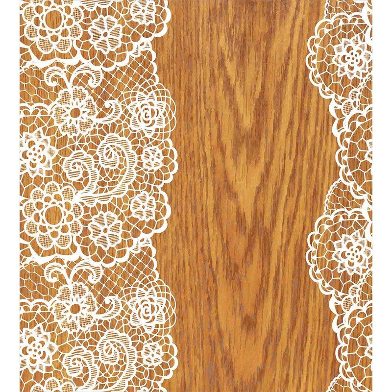 Vintage Shabby Elegance Lace Pattern On Wooden Rustic Background Feminine Retro Image Duvet Set