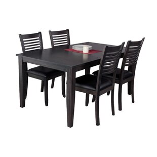 Haan Traditional 5 Piece Solid Wood Dining Set by Red Barrel Studio Discount