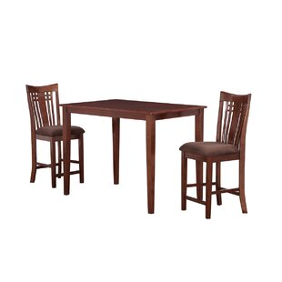Flossmoor 3 Piece Pub Table Set Charlton Home