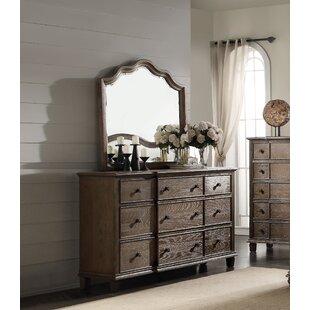 One Allium Way Putney 9 Drawer Dresser with Mirror