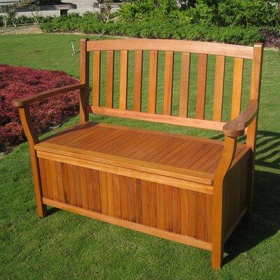 Sabbattus Outdoor Wood Storage Bench