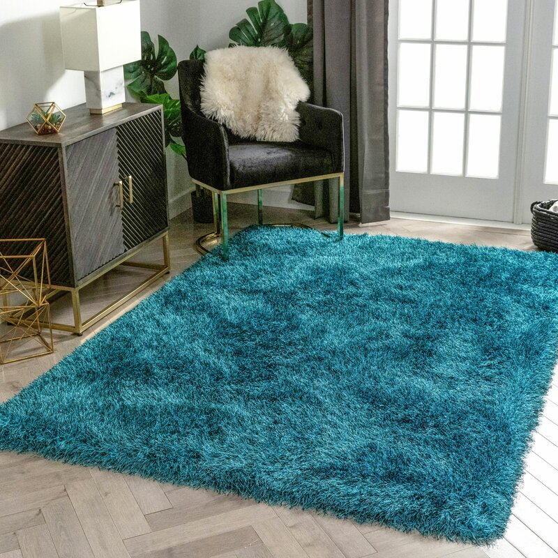 Well Woven Kuki Shag Teal Area Rug