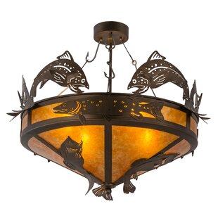 Meyda Tiffany Greenbriar Oak 4-Light Semi Flush Mount
