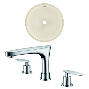 Great choice Ceramic Circular Undermount Bathroom Sink with Faucet and Overflow By American Imaginations