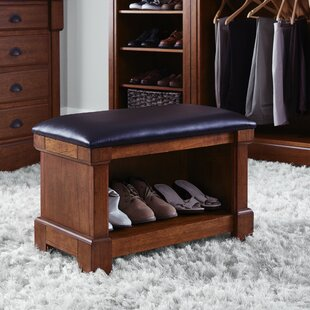 Cargile Wood Storage Bench
