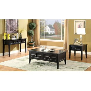 Winston Porter Lochleven Transitional 3 Piece Coffee Table Set