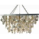 Rhoda 3 - Light Unique / Statement Geometric Chandelier with Seashell Accents