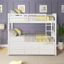 Harriet Bee Allentown Twin Over Twin Bunk Bed With Trundle Wayfair