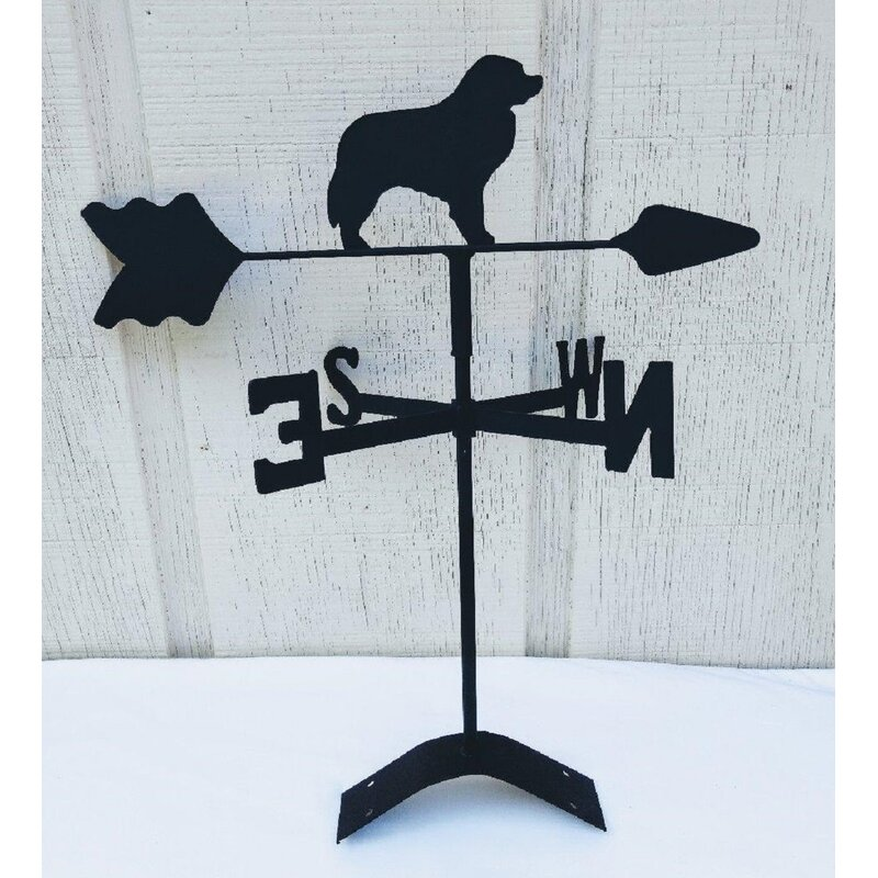 The Lazy Scroll Roof Mount Bernese Mountain Dog Weathervane Wayfair