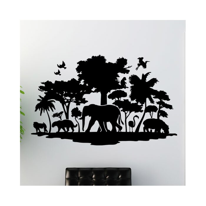 style and apply jungle wall decal | wayfair.ca