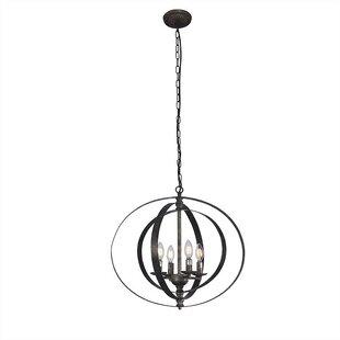 Wolf 4-Light Globe Chandelier by Gracie Oaks