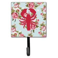 Lobster Shabby Elegance Roses Leash Holder and Wall Hook by Caroline's Treasures