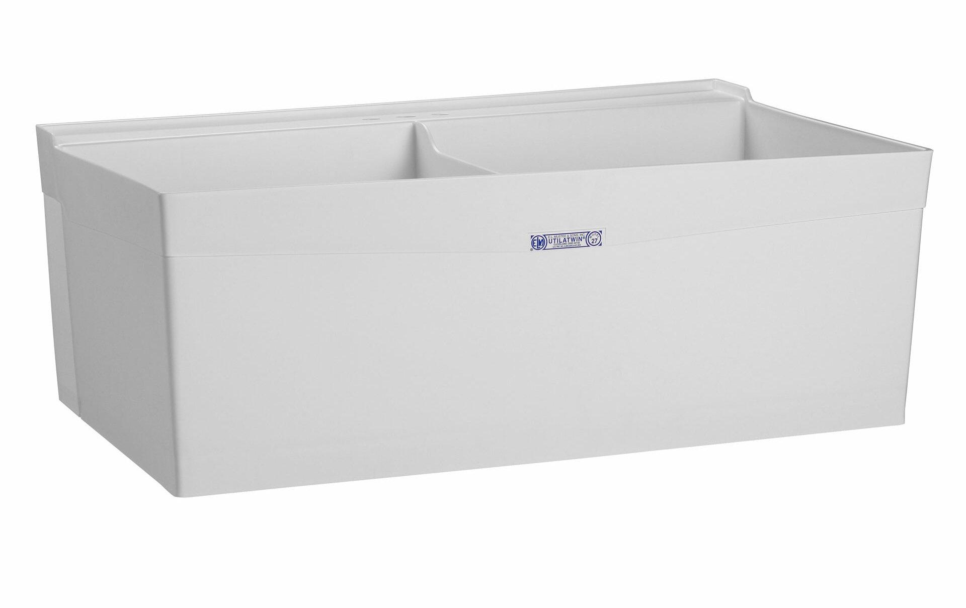 E L Mustee Son Utilatwin 40 X 24 Wall Mount Laundry Sink Wayfair Ca