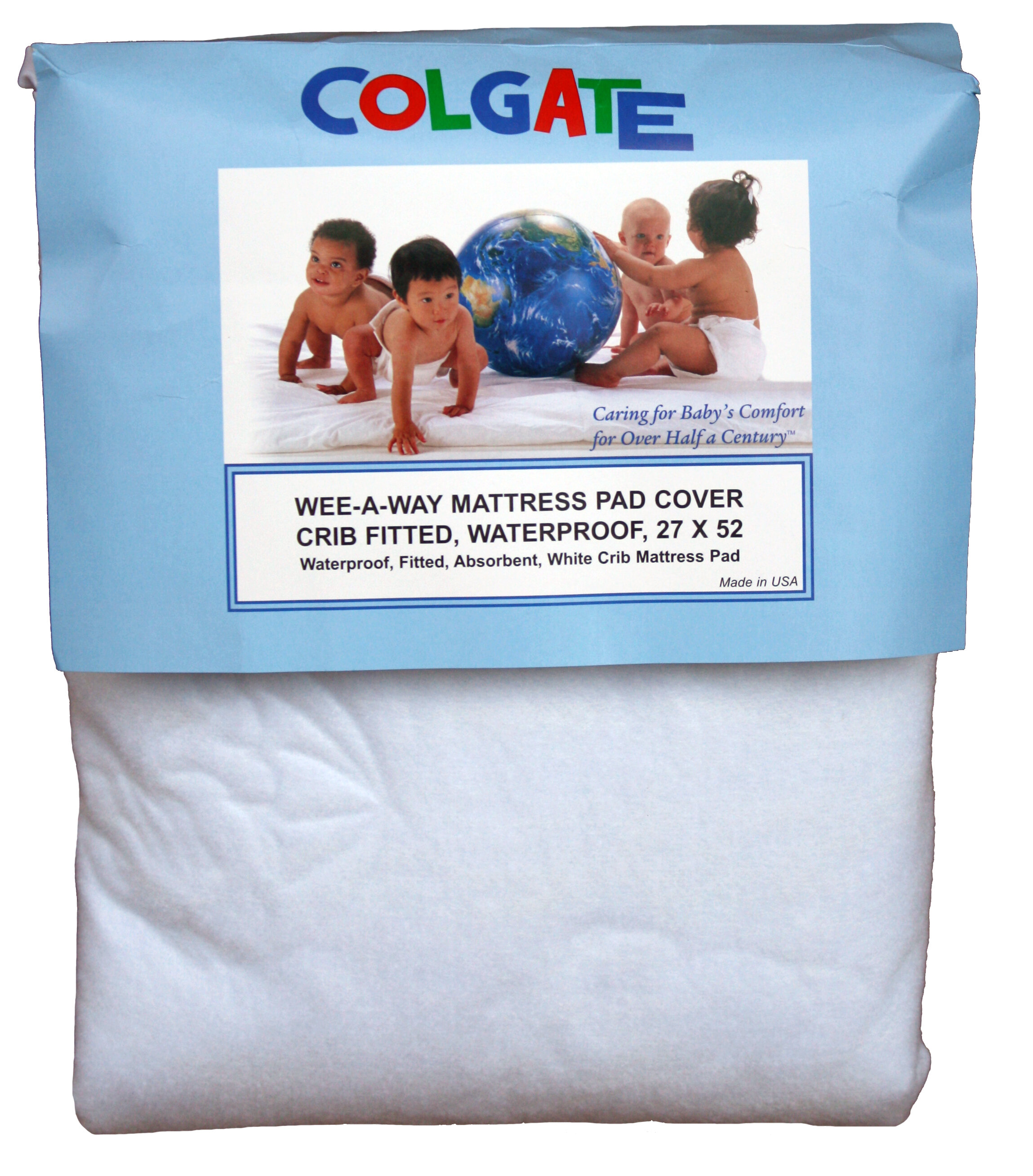 colgate wee-a-way waterproof fitted crib mattress cover | wayfair