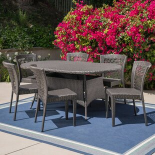 Guillory Outdoor 7 Piece Dining Set by Ch..