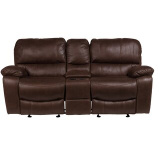 Gracehill Modern Solid Reclining Loveseat by Three Posts Herry Up