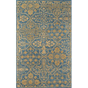 Worreno Hand-Tufted Wool Indoor Blue Oriental Area Rug byBungalow Rose