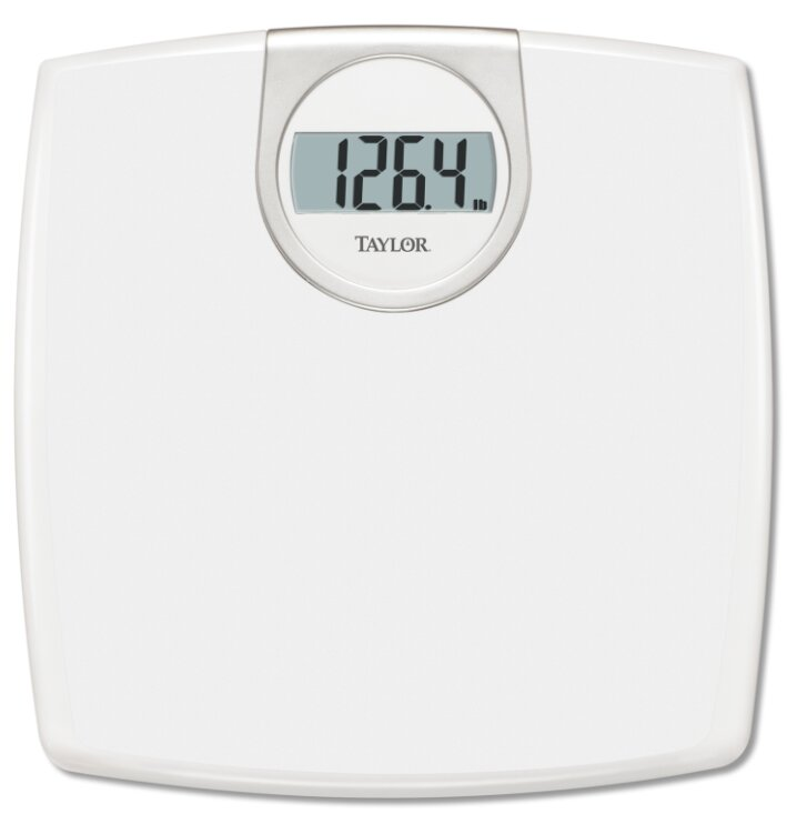 White Lithium Digital Bath Scale