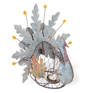 The Holiday Aisle Leaf Turkey Metal Lantern