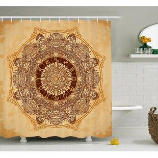 Bellegarde Astrology Aged Shower Curtain + Hooks