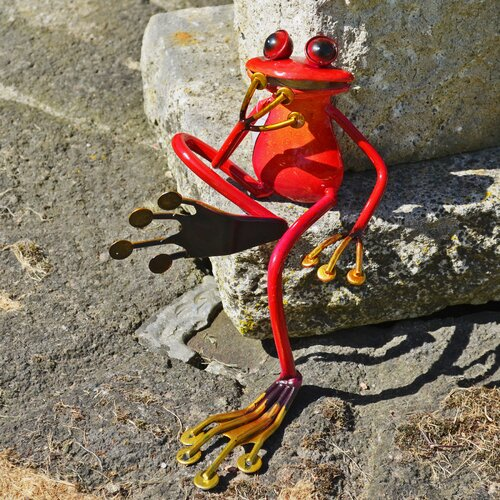 Gartenfigur Sitzender Frosch Happy Larry | Garten > Dekoration > Dekofiguren | Happy Larry