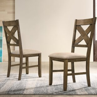 Poe Upholstered Dining Chair (Set of 2) Gracie Oaks