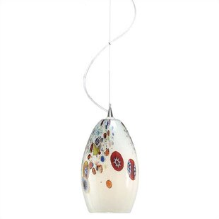 Monty Mouth Blown Murano 1-Light Cone Pendant By LBL Lighting