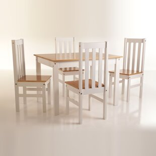 Willeford Complete 5 Piece Solid Wood Dining Set