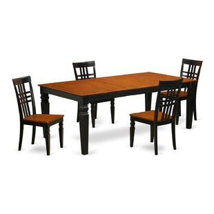 Beesley 5 Piece Wood Dining Set DarHome Co