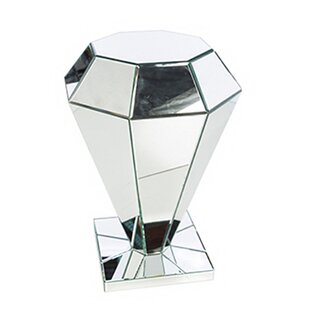 Sandown Diamond Shaped Mirror Side End Table by Everly Quinn