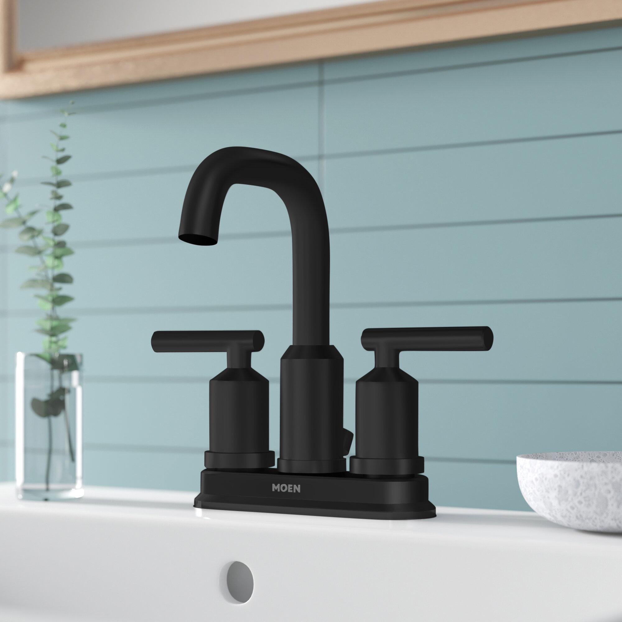 6150 Moen Gibson Centerset Bathroom Faucet With Drain Assembly Reviews Wayfair