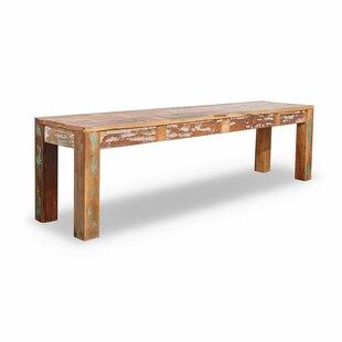 Landen Wood Bench By Bloomsbury Market