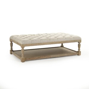 Rectangular Tufted Ottoman by Zentique Inc.
