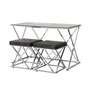 Viveros 3 Piece Breakfast Nook Dining Set by Orren Ellis