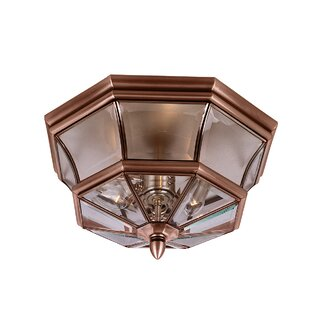 Wexford 3-Light Outdoor Flush Mount By Sol 72 Outdoor