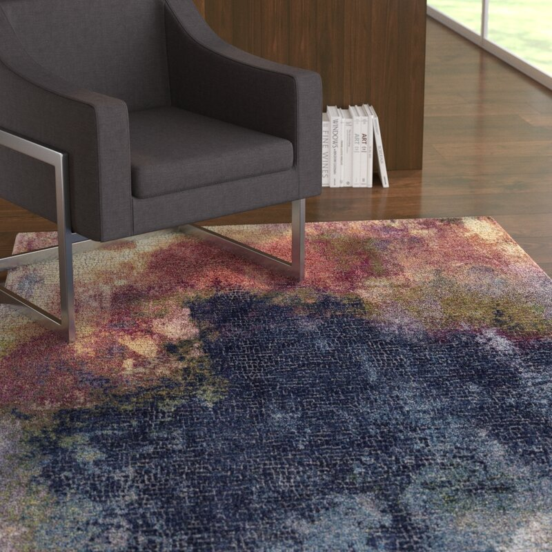 Ebern Designs Brinkerhoff Blue Red Area Rug Wayfair