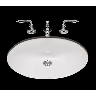 Compare prices Doreen Ceramic Oval Undermount Bathroom Sink with Overflow ByBates & Bates
