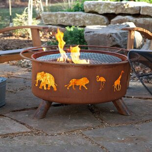 Classic Safari Steel Wood Burning Fire Pit By Patina Products