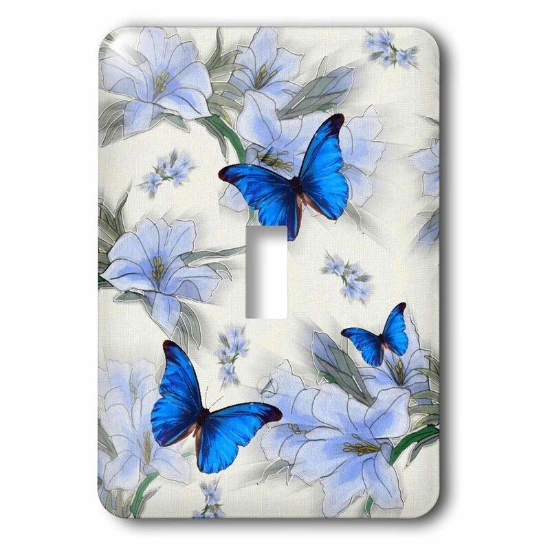 3drose Butterflies 1 Gang Toggle Light Switch Wall Plate Wayfair