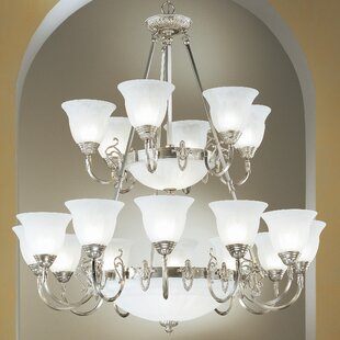 Classic Lighting Yorkshire II 24-Light Shaded Chandelier