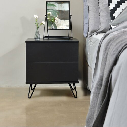 Nachttisch Eckel   Schlafzimmer > Nachttische   Schwarz   ModernMoments