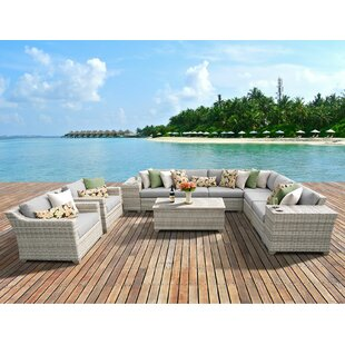 Rosecliff Heights Ansonia 11 Piece Sectional Set with Cushions