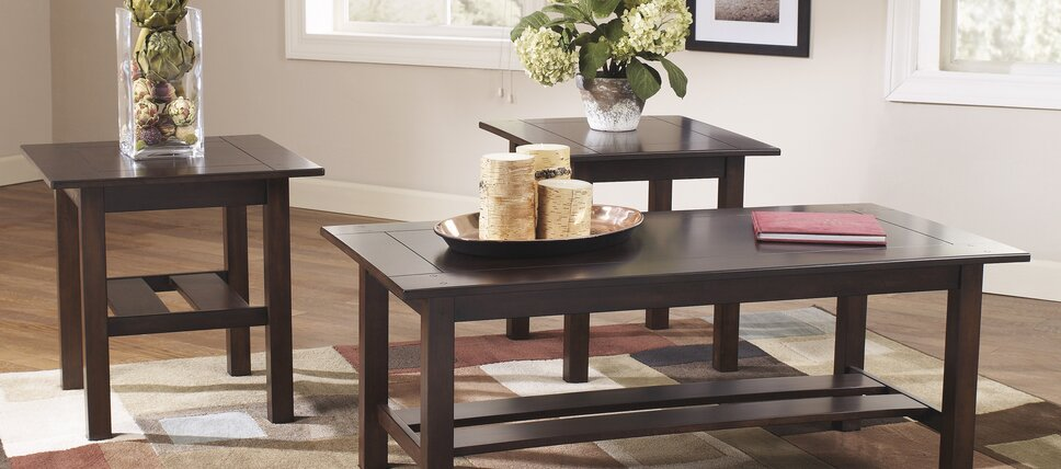 Wood Coffee Table Sets Part 77