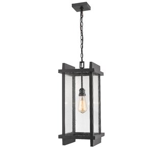 Reviews Beeching 1-Light LED Outdoor Pendant By Ivy Bronx