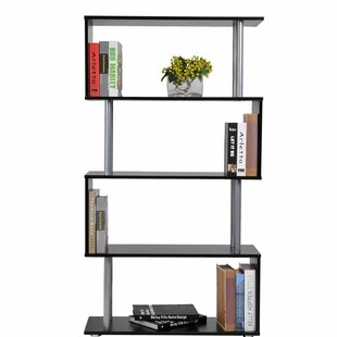 Makenna Modern S-Shaped 5 Tier Room Dividing Standard Bookcase by Ebern Designs