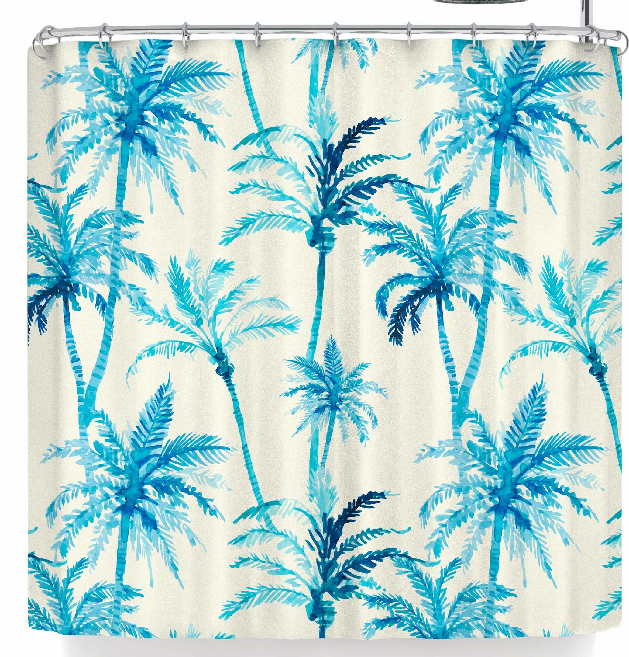 East Urban Home Mmartabc Tropical Watercolor Palm Trees
