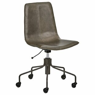 Keyshawn Contemporary Leather Task Chair by 17 Stories